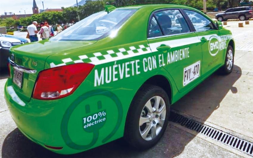 A Medellín llegarán 200 taxis verdes ciento por ciento eléctricos.