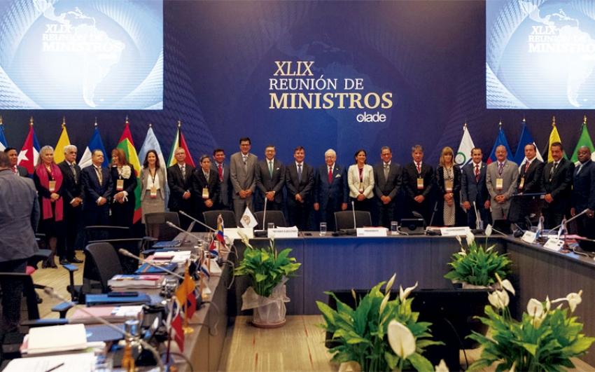 XLIX Reunión de Ministros de Olade, la transición energética hacia fuentes más limpias de generación