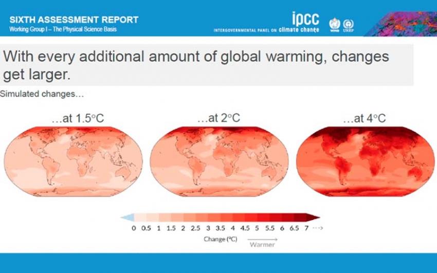 El IPCC advierte: cambio climático generalizado, rápido e intensificado