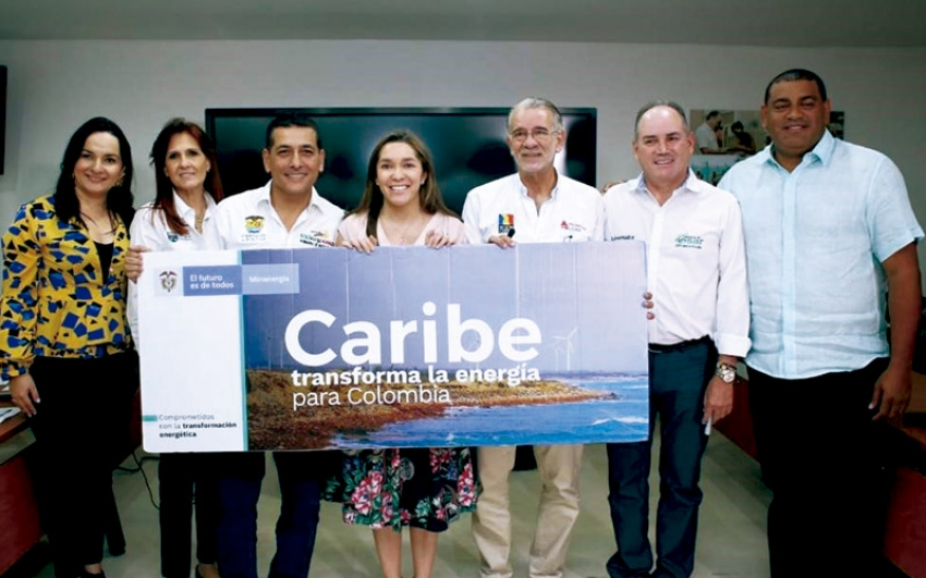 Gobernadores de la Costa Caribe y MinEnergía firman compromiso con la transformación energética del país.