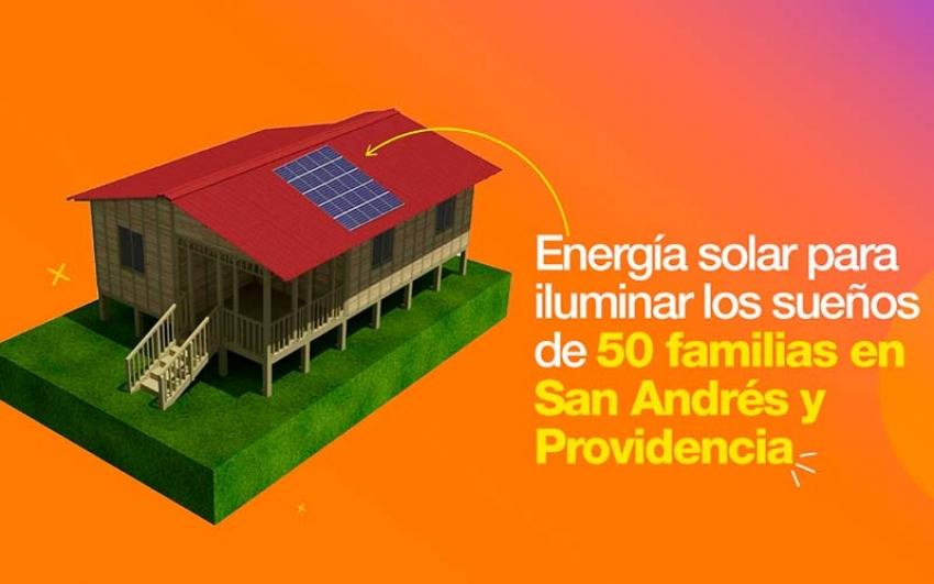 Celsia aporta energía solar a 50 viviendas de San Andrés y Providencia